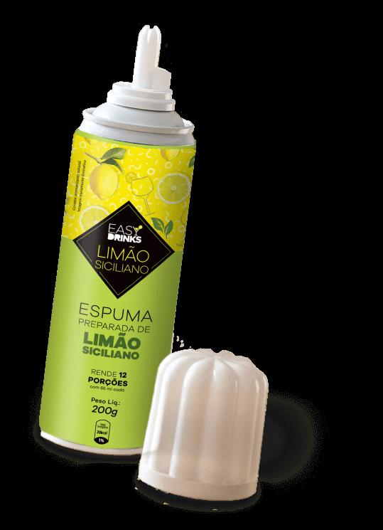 Produto espuma de limão siciliano